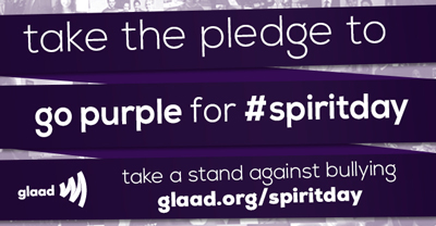 Wear PURPLE this Thursday for Spirit Day