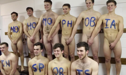 University of Nottingham field hockey team gets naked for unity