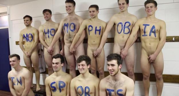 University of Nottingham field hockey team gets naked for unity