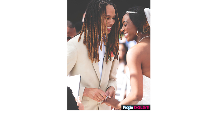 Britney Griner and Glory Johnson Wed
