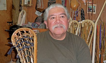 Making lacrosse sticks the Native American way