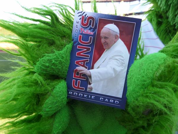 Philadelphia Phillies giving out Pope Francis rookie cards