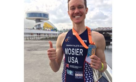Trans man Chris Mosier competes with Team USA in Spain