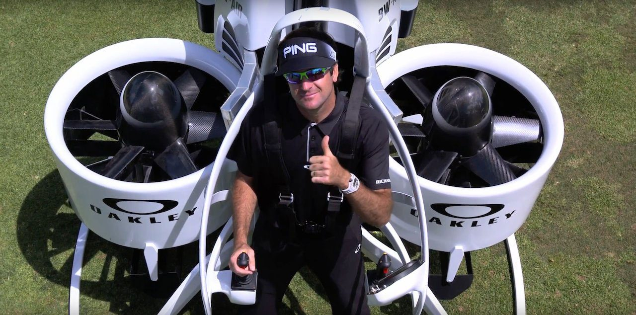 Bubba Watson's $200,000 jetpack golf cart