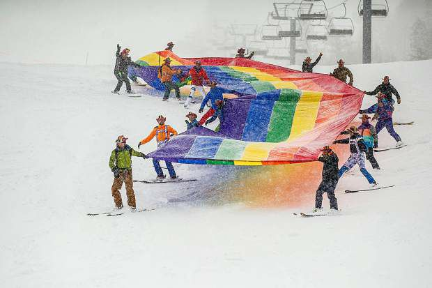 PRIDE on the Slopes at Aspen Gay Ski Week