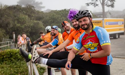 What Rhymes with ORANGE? That would be day 2 of AIDS Lifecycle!