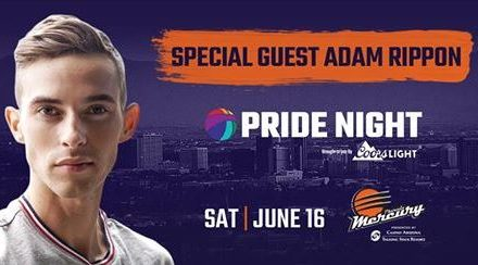 Celebrate PRIDE with the Phoenix Mercury and Adam Rippon at Pride Night!