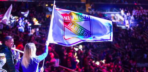 New York City Gay Hockey Association and You Can Play Celebrate Pride Night with the New York Rangers