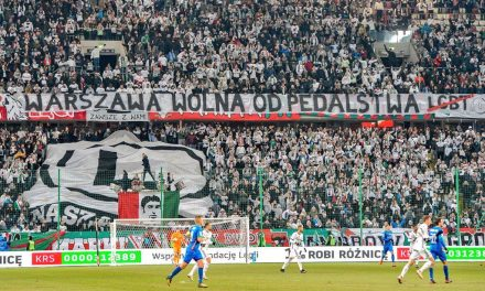 """Free From Faggots"" Banner Unfurled at Legia Warsaw Football Match"