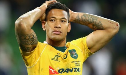 Australian Rugby Player, Israel Folau, Launches into Yet Another Crazy, Homophobic, Religious Tirade