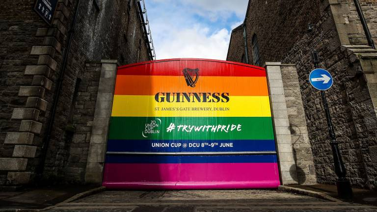 Famous Guinness Gates Painted Rainbow in Support of 2019 Union Cup