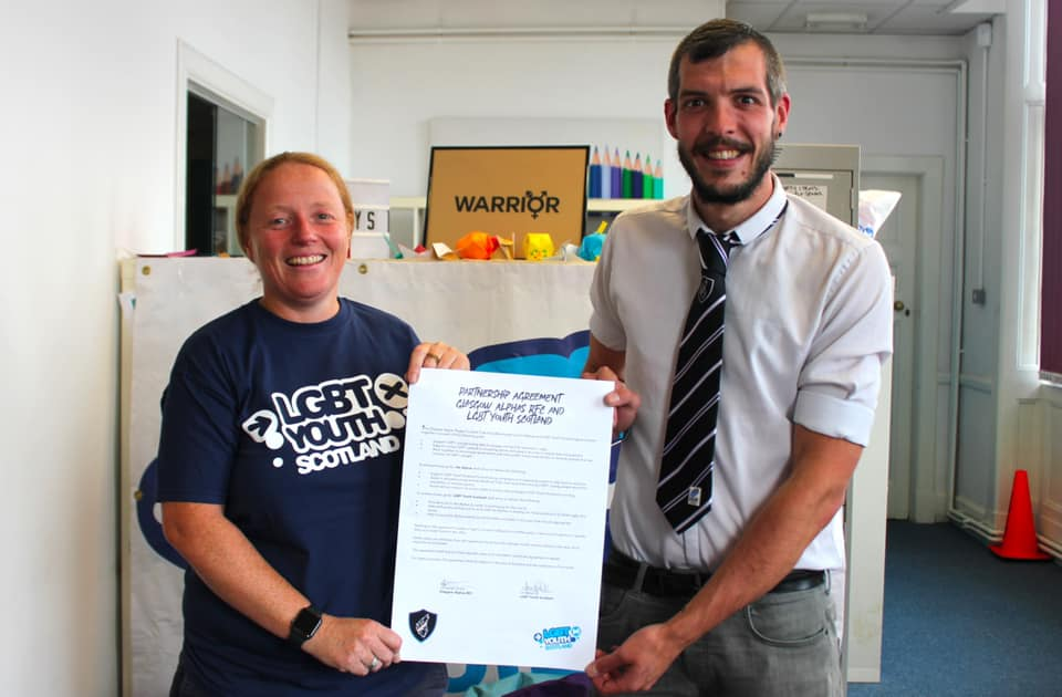 Glasgow Alphas Rugby Club Signs Agreement with LGBT Charity to Promote Participation in Sport