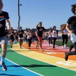 Los Angeles City College Debuts Rainbow Track for #NationalComingOutDay