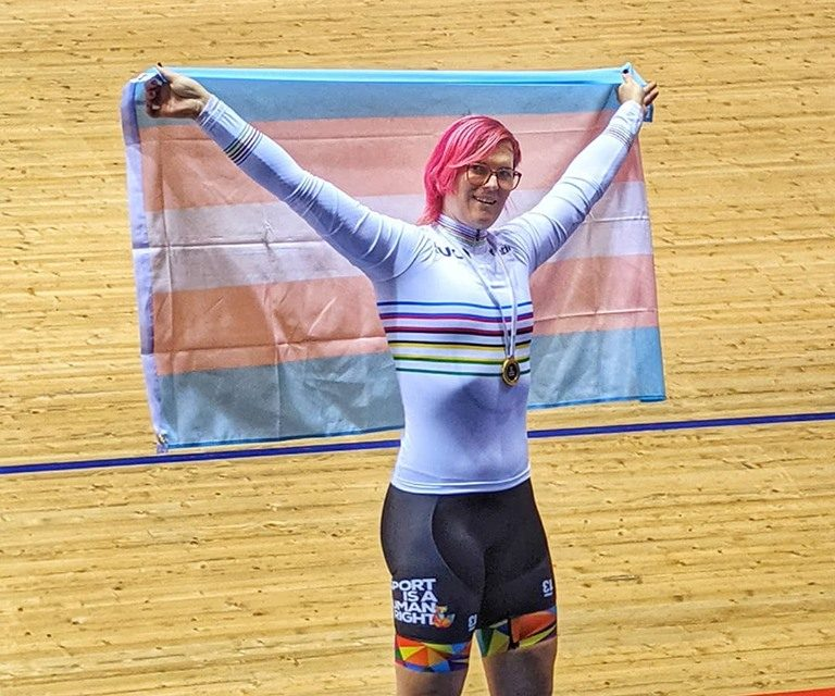 Trans Cyclist Rachel McKinnon Defends World Masters Sprint Title