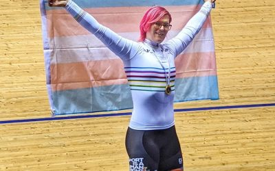 Trans Cyclist Rachel McKinnon Defends World Masters Sprint Title