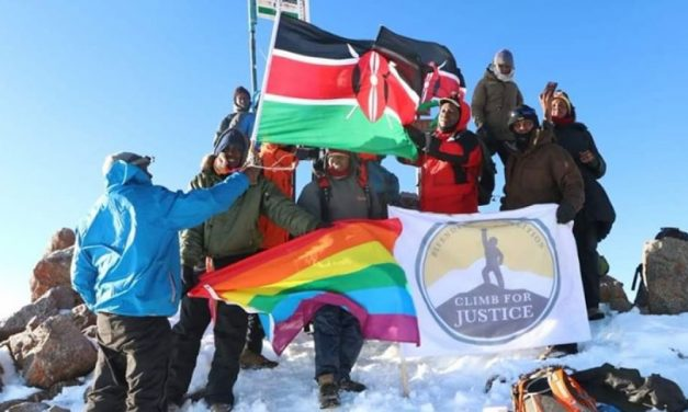 In Defiance of Anti-LGBT Laws, Kenyan LGBT Community Hoists Rainbow Flag on Peak of Mt. Kenya