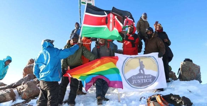 In Defiance of Anti-LGBT Laws, Kenyan LGBT Community Hoists Rainbow Flag on Peak of Mt. Kenya