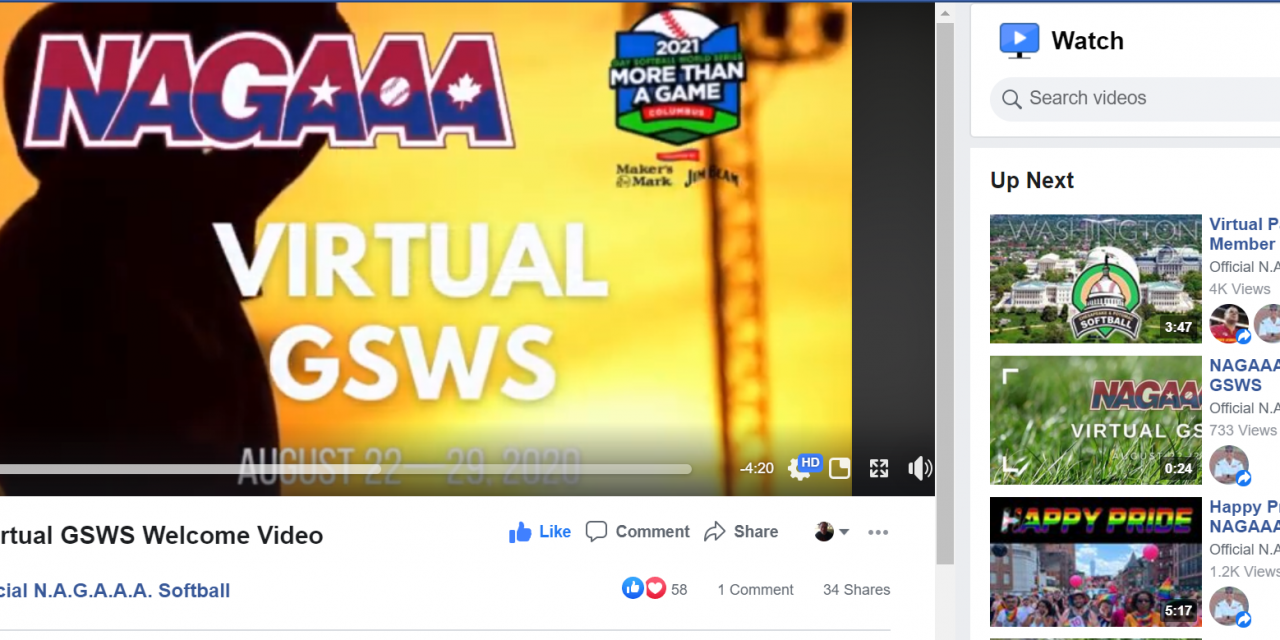 2020 Virtual Gay Softball World Series Event Recap