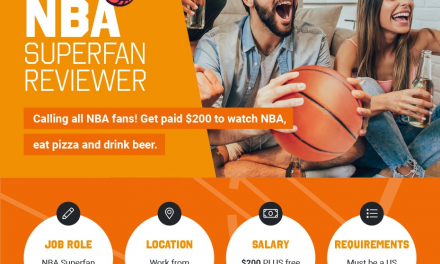 Dream job – Calling all NBA fans! Get paid $200 to watch NBA, eat pizza and drink beer*