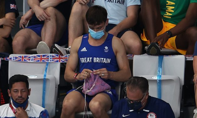 Tom Daley Strives for Gold, One Stitch at a Time